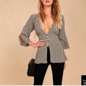 Lucy love grey print top